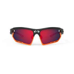 Rudy Project Fotonyk Lunettes, crystal graphite/mandarin/multilaser red